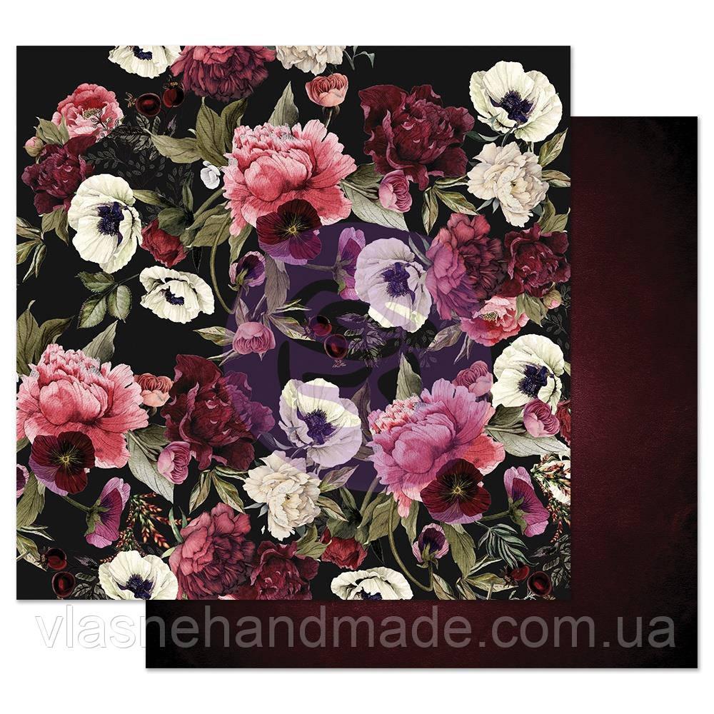 Папір двосторонній - Midnight Garden - Midnight Garden - Prima Marketing - 30х30