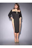 Платье из плотного трикотажа и искусственной кожи, фото 1