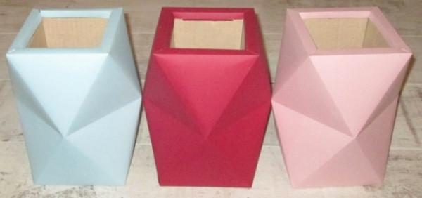 Коробка-кашпо Граненная 23*19 см, в ассортименте