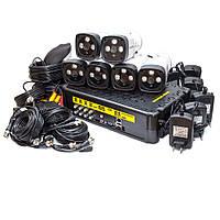 KIT-3MP-6CC Полный! комплект видеонаблюдения видеокамеры 3 Mp + видеорегистратор