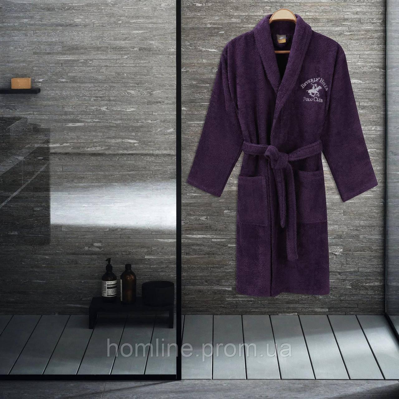 Халат Beverly Hills Polo Club S/M purple сиреневый 355BHP1710