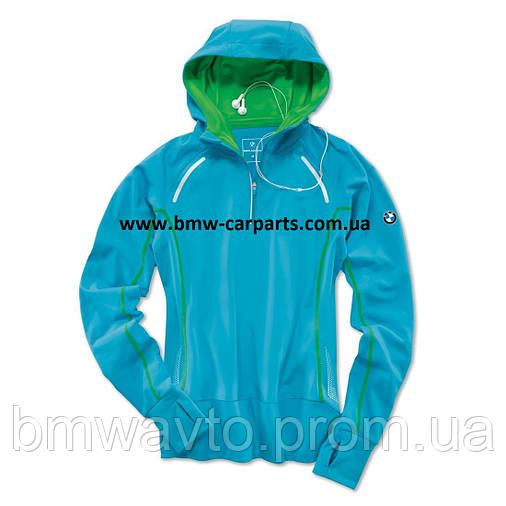 Женская куртка BMW Athletics Performance Long-Sleeved Shirt, ladies, Ocean Blue, фото 2