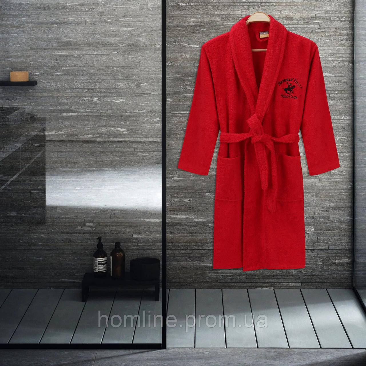 Халат Beverly Hills Polo Club XS/S red красный 355BHP1711