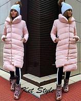 Куртка женская удлиненная зимняя