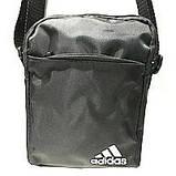 Текстильные барсетки S Adidas (черный+голубой)14*19см, фото 2