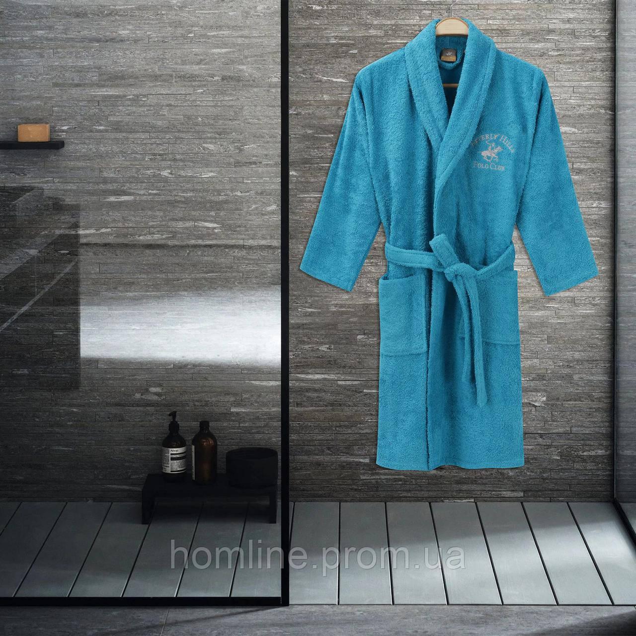 Халат Beverly Hills Polo Club L/XL turquoise бирюзовый 355BHP1712