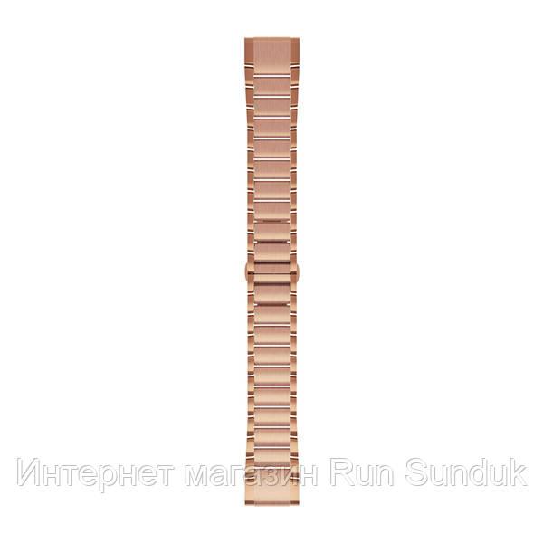 Ремешок на запястье для Garmin QuickFit™ 20 Watch Bands Rose Gold-tone Stainless Steel