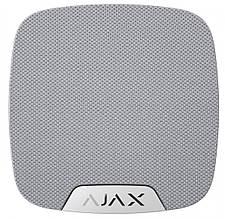 Беспроводная комнатная сирена Ajax HomeSiren, Jeweller, 105 дБ, 3V CR123A, белая