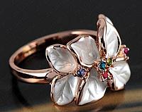 "Кольцо ""Белая орхидея"", фото 1"