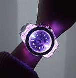 Часы женские светящиеся со стразами кварцевые белые, фото 5