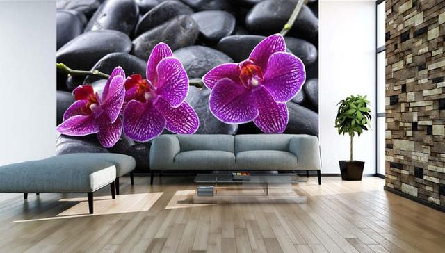 ФотоОбои с орхидеями