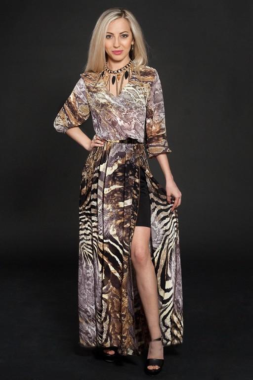 1ddef0f67d04 Стильное шифоновое платье с золотистой пряжкой по талии  продажа ...