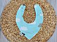Слюнявчик-треугольник, облака , фото 3