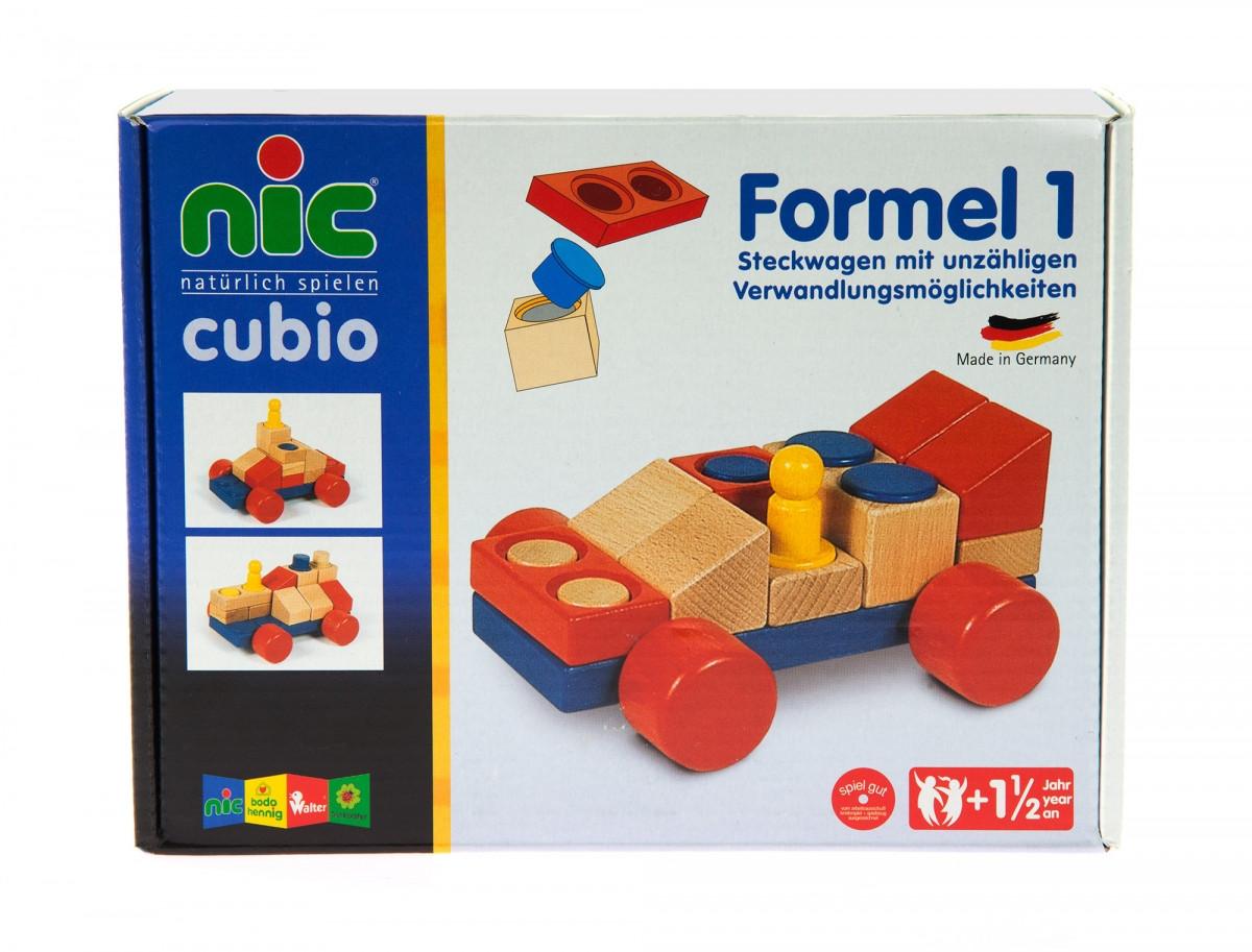 Конструктор nic cubio деревянный Машинка NIC2141