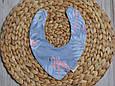 Слюнявчик-треугольник, фламинго , фото 4