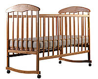 Кроватка детская нелакированная Наталка ольха светлая