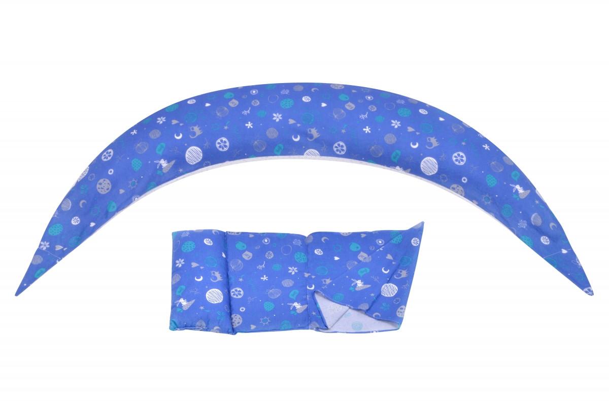 Подушка для беременных и для кормления Nuvita 10 в 1 DreamWizard Синяя NV7100Blue