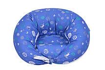 Подушка для беременных и для кормления Nuvita 10 в 1 DreamWizard Синяя NV7100Blue, фото 2