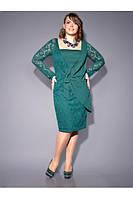 Женское платье комбинированное из мягкого эластичного кружева и креп-шифона.