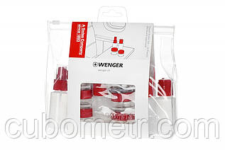 Набор ёмкостей для путешетвий, Wenger Bottle Set 10 psc, прозрачный