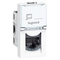 MOSAIC Legrand розетка информационная RJ45 UTP 5е (1 мод) белый