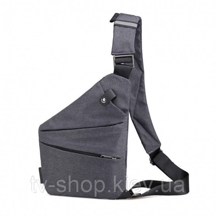 Чоловіча сумка Crossbody на праве плече grey