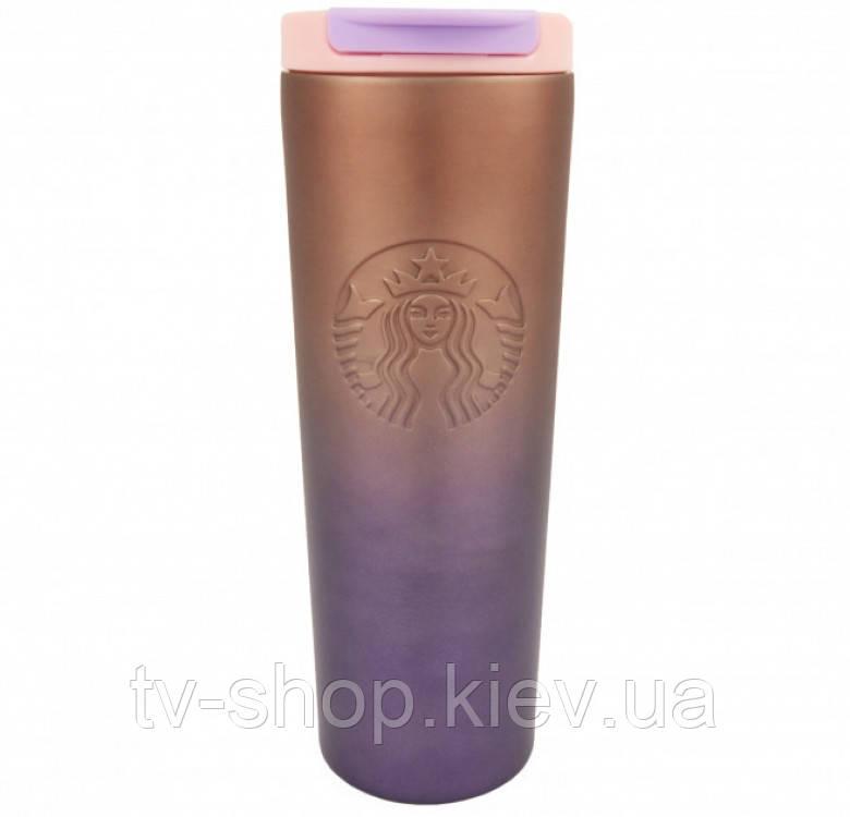 Термокружка хамелеон матова Starbucks тамблер 473мл