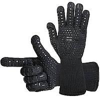 Термостойкие силиконовые перчатки BBQ Gloves нескользящие