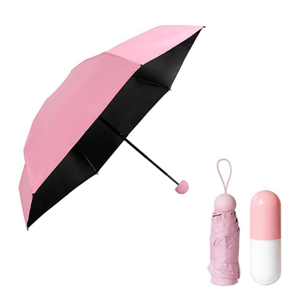Мини зонтик в футляре РОЗОВЫЙ