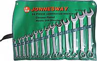 Набор ключей комбинированных 10-32 мм, 14 предметов, W26114S (Jonnesway, Тайвань)