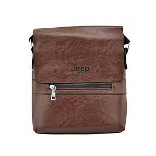 Сумка мужская Jepp 866 черная, коричневая, фото 2