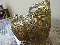 """Шкатулка из бронзы """"Собака"""" ХІХ век Камбоджа, фото 1"""