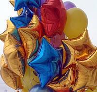 Фольгированный шар звездочка с гелием, фото 1