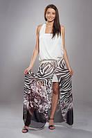 Стильное шифоновое платье в красивый принт
