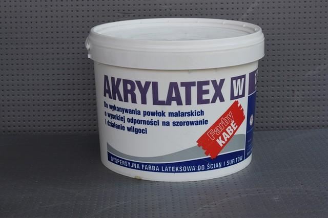 Латексная дисперсная краска для стен и потолков AKRYLATEX W (10л)