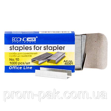 Скобы для степлера 10 Economix E40301, фото 2