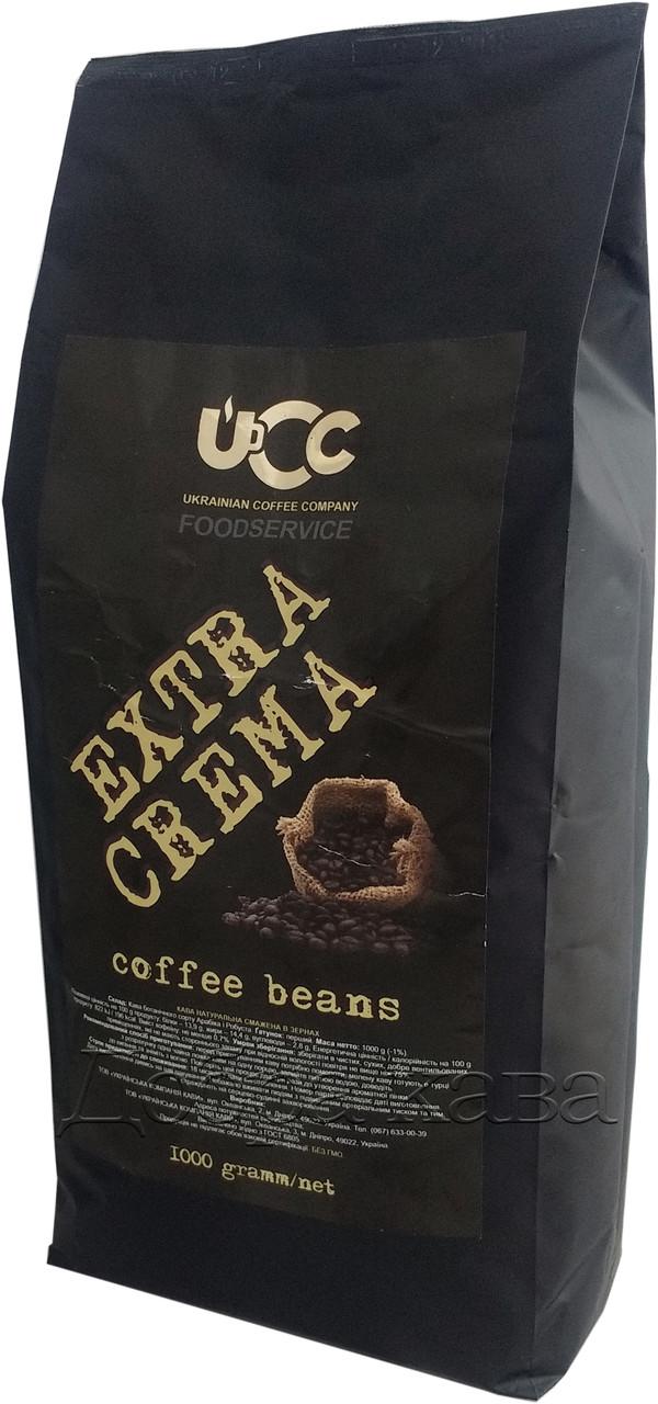 Кофе в зернах UCC Extra Crema (20% Арабика) 1 кг.