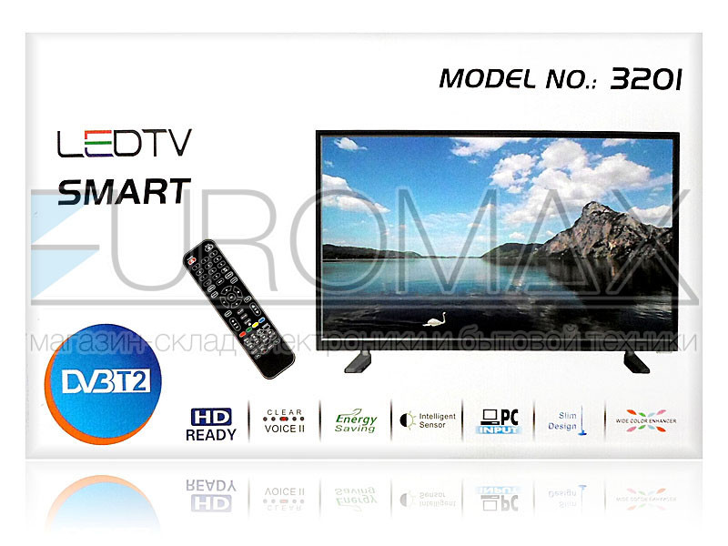 Телевизор LED диагональ 32 DVB-T2 / SMART / ANDROID / RAM1Gb / MEM8Gb 3201
