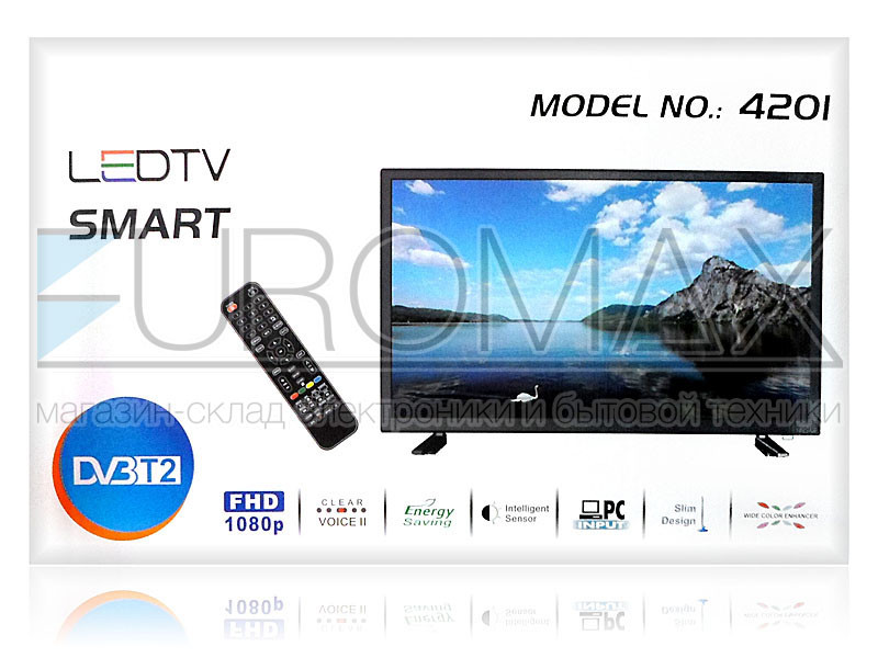 Телевизор LED диагональ 42 DVB-T2 / SMART / ANDROID / RAM1Gb / MEM8Gb 4201