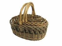 Набор корзин из лозы Пасхальный 4шт