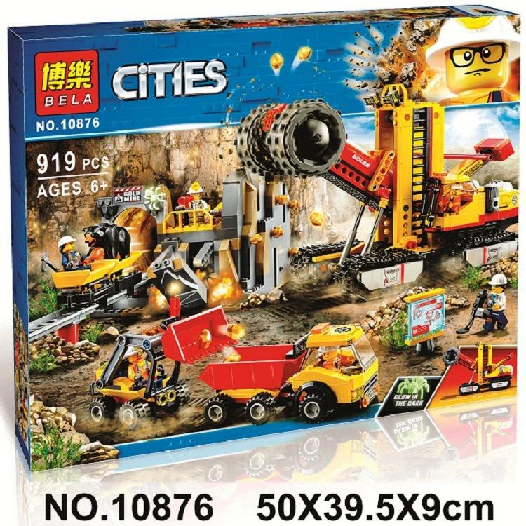 Конструктор Bela 10876 City Туннелестроители в горах 919 деталей
