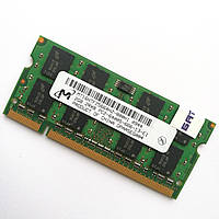Оперативна пам'ять для ноутбука Micron SODIMM DDR2 2Gb 800MHz 6400s CL6 (MT16HTF25664HZ-800H1) Б/В