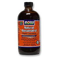 Ресвератрол (Resveratrol) жидкий, Now Foods, 473 мл