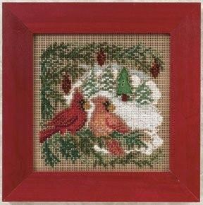 Набір для вишивки Mill Hill Cardinal Forest/ Кардинали в лісі