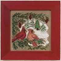 Набор для вышивки Mill Hill Cardinal Forest/ Кардиналы в лесу