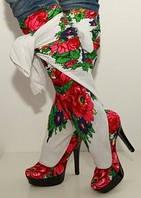 Сапожки-платки в стиле Матрешка