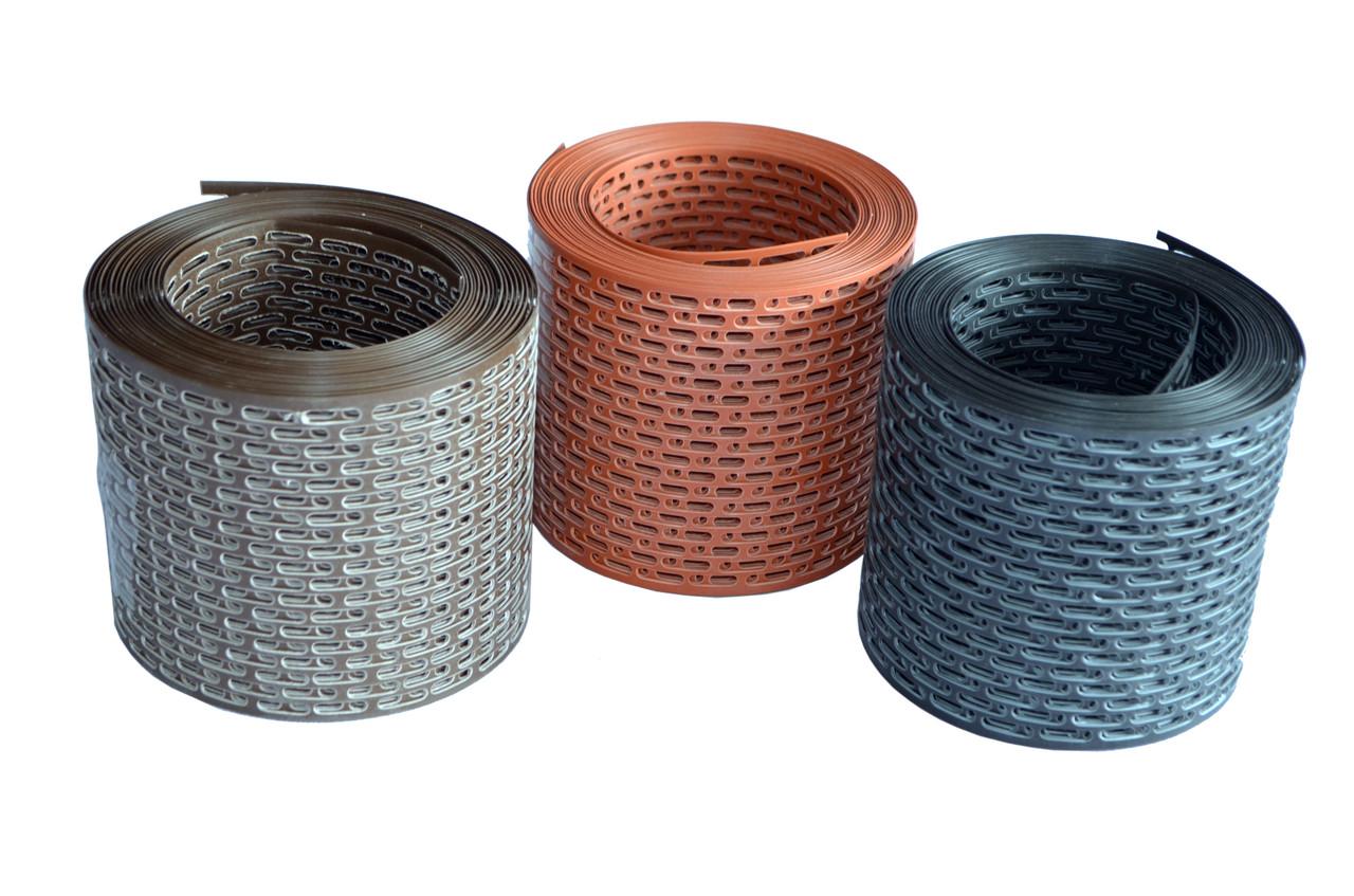 10 см! Вентиляционная лента свеса BL Abwerg PVC 100 х 5000 мм. Цвет коричневый 8017 (Poland)