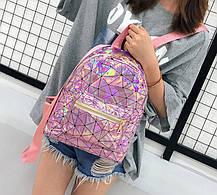 Голографический рюкзак с геометрическим дизайном, фото 3