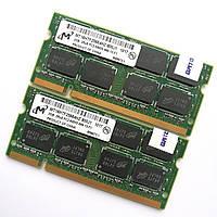 Оперативная память для ноутбука Micron SODIMM DDR2 4Gb (2Gb+2Gb) 800MHz 6400s CL6 (MT16HTF25664HZ-800J1) Б/У, фото 1