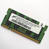 Оперативна пам'ять для ноутбука Micron SODIMM DDR2 2Gb 800MHz 6400s CL6 (MT16HTF25664HY-800G1) Б/В